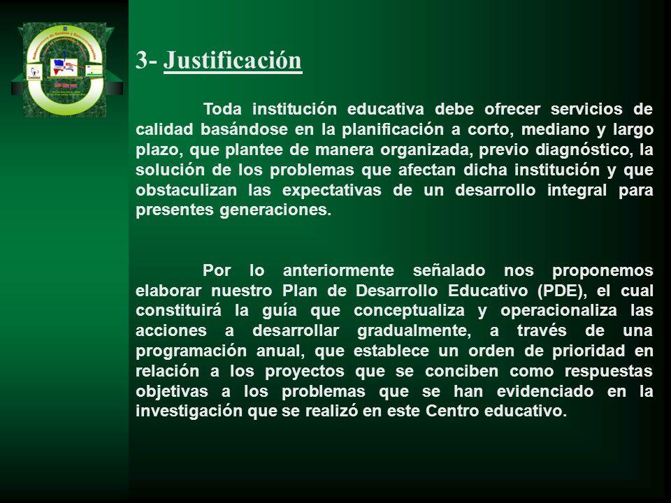 3- Justificación