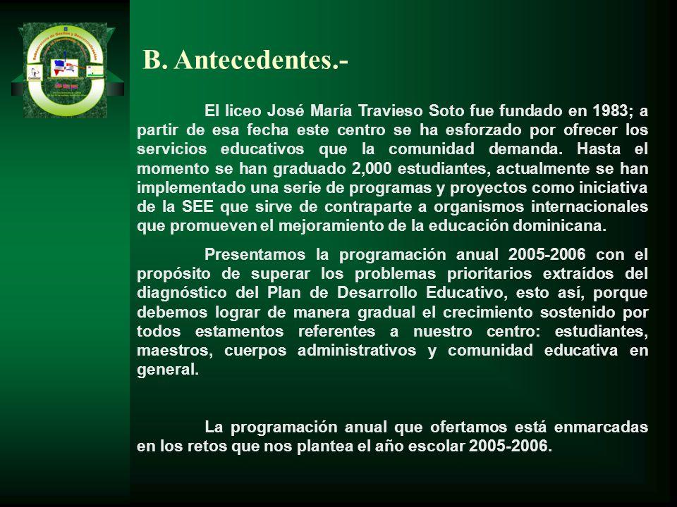 B. Antecedentes.-