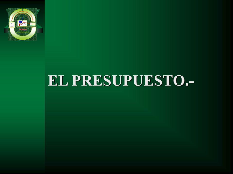 EL PRESUPUESTO.-