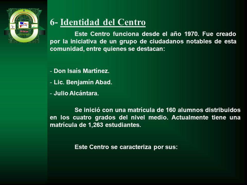 6- Identidad del Centro