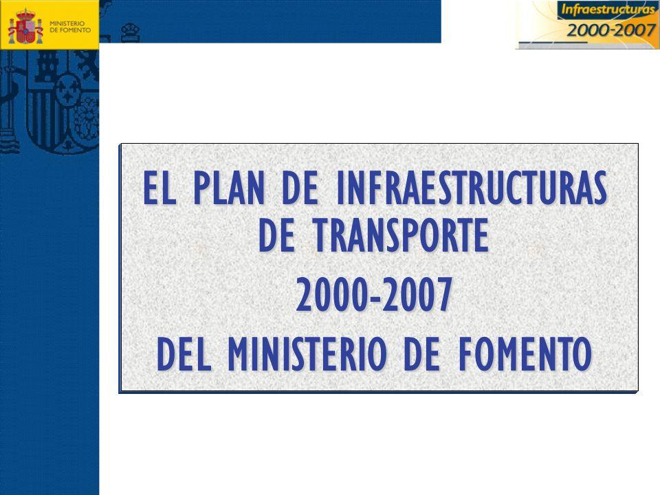 EL PLAN DE INFRAESTRUCTURAS DE TRANSPORTE DEL MINISTERIO DE FOMENTO