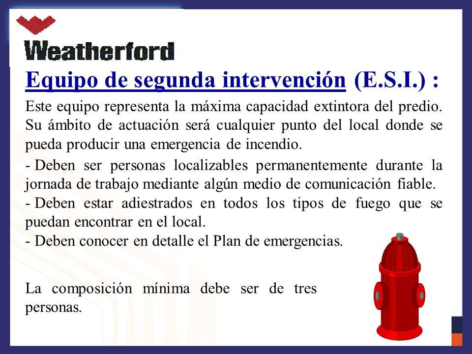 Equipo de segunda intervención (E.S.I.) :