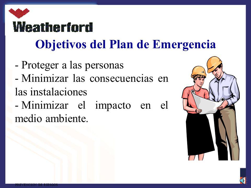 Objetivos del Plan de Emergencia