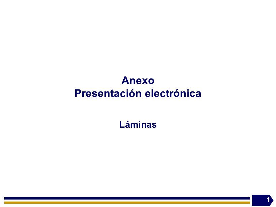 Anexo Presentación electrónica