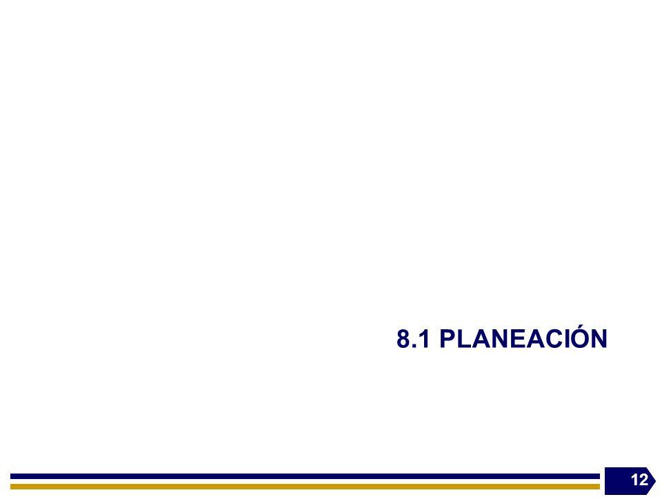 8.1 PLANEACIÓN