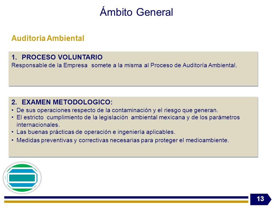 Ámbito General Auditoría Ambiental PROCESO VOLUNTARIO
