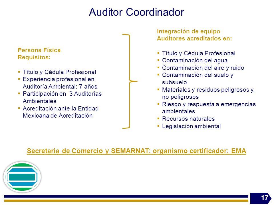Secretaria de Comercio y SEMARNAT: organismo certificador: EMA