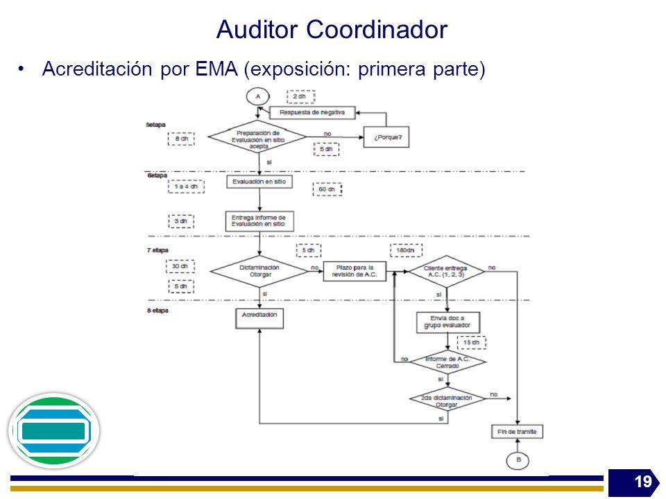 Auditor Coordinador Acreditación por EMA (exposición: primera parte)
