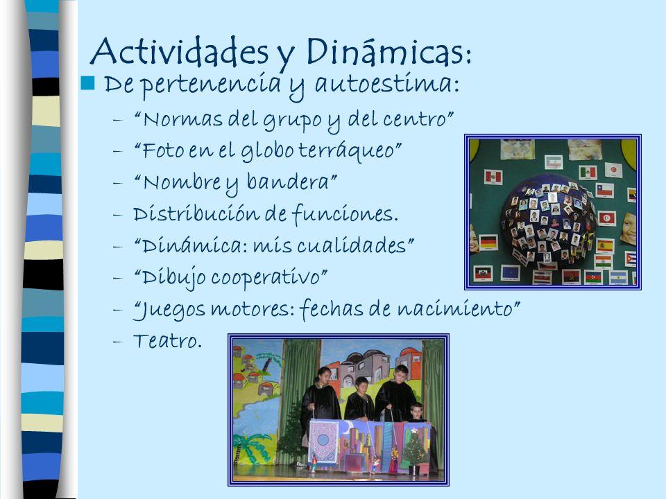 Actividades y Dinámicas: