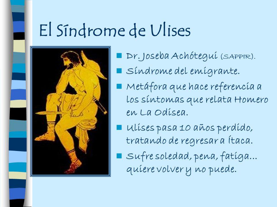 El Síndrome de Ulises Dr. Joseba Achótegui (SAPPIR).