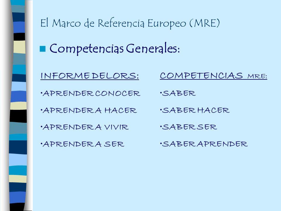 El Marco de Referencia Europeo (MRE)