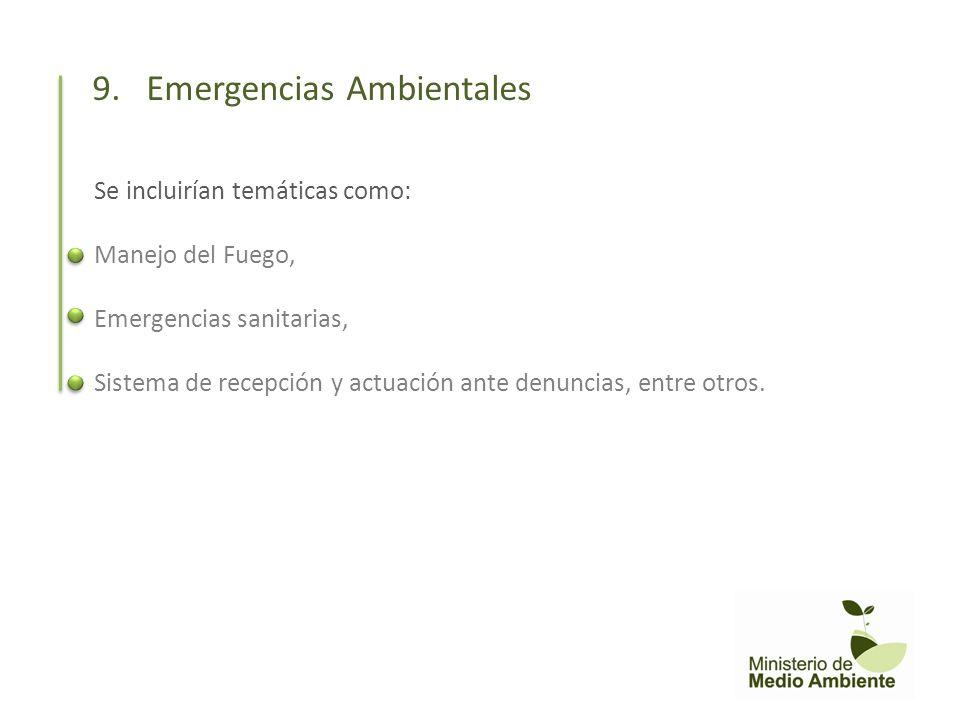 9. Emergencias Ambientales