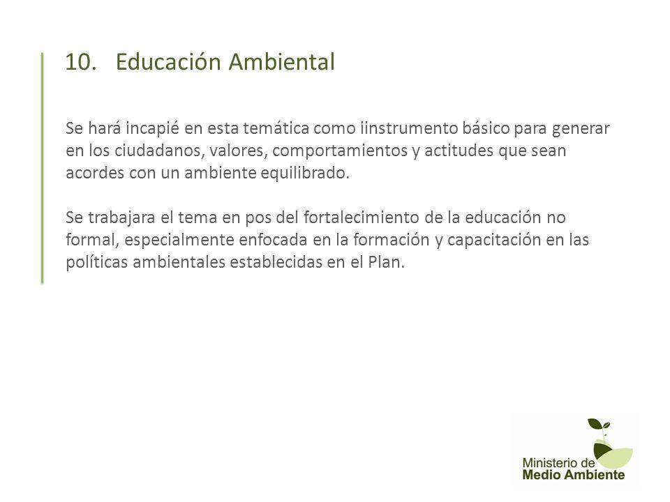 10. Educación Ambiental