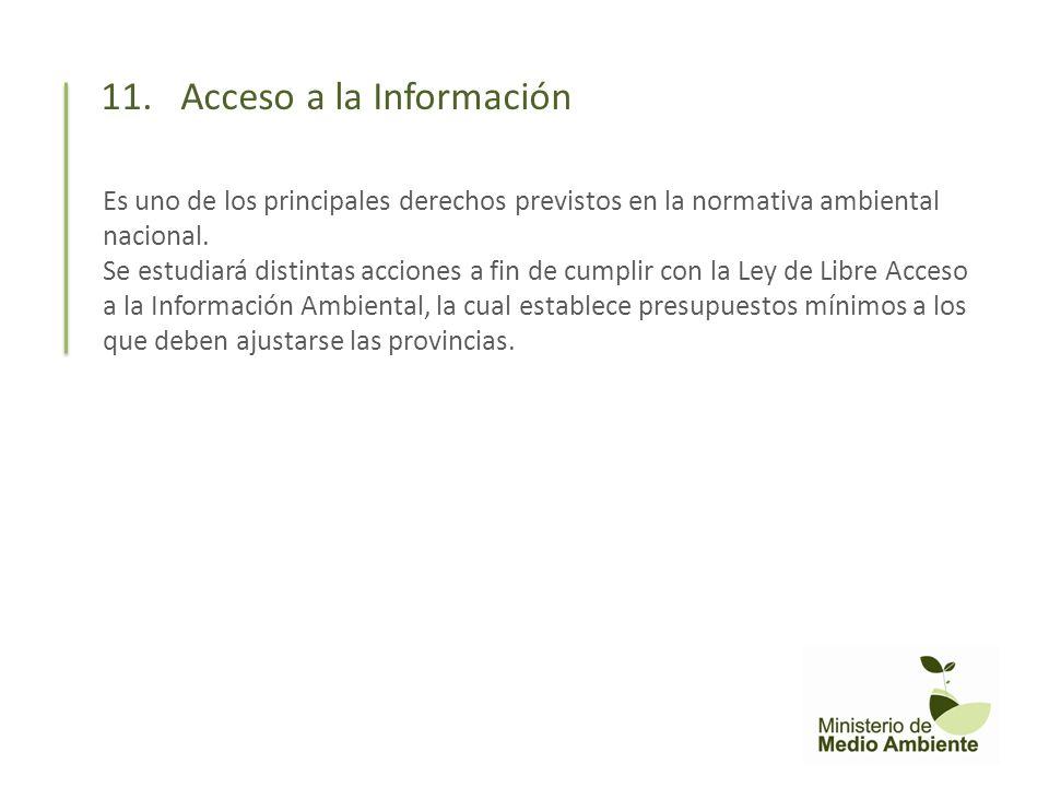 11. Acceso a la Información