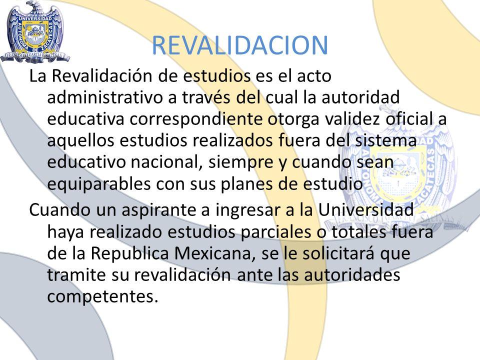 REVALIDACION
