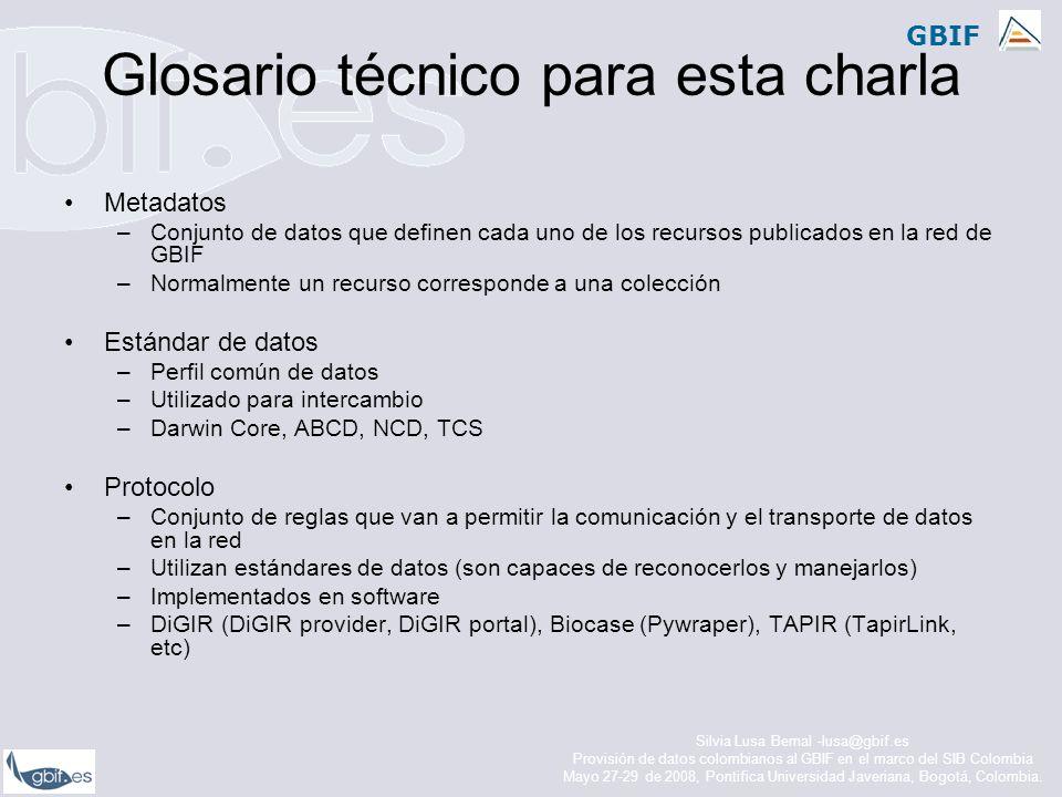 Glosario técnico para esta charla