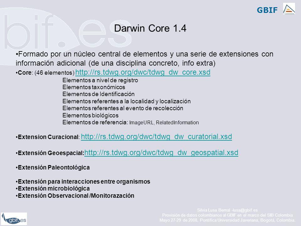 Darwin Core 1.4