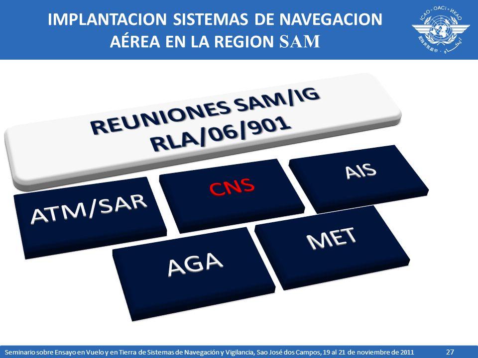 IMPLANTACION SISTEMAS DE NAVEGACION AÉREA EN LA REGION SAM