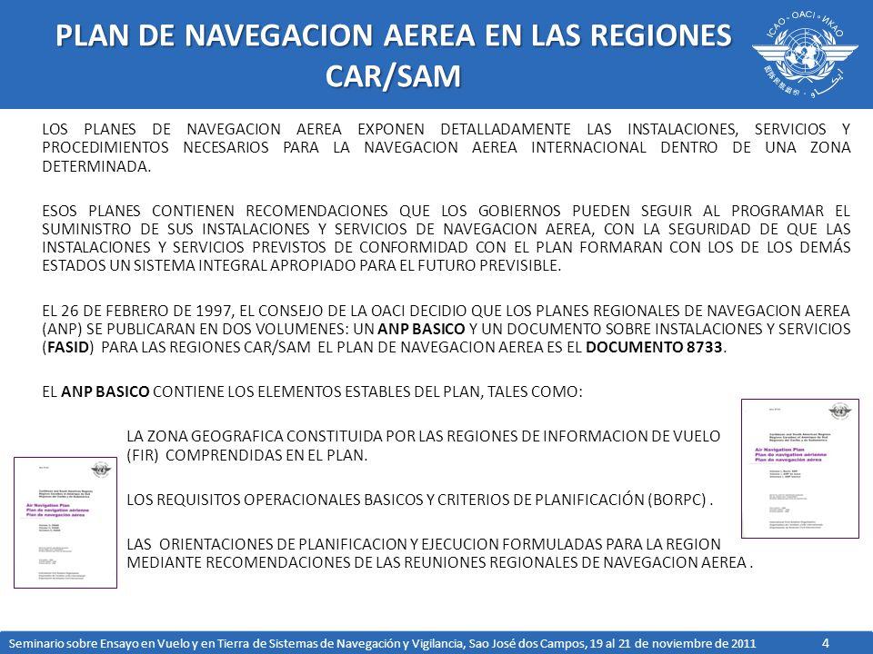 PLAN DE NAVEGACION AEREA EN LAS REGIONES CAR/SAM