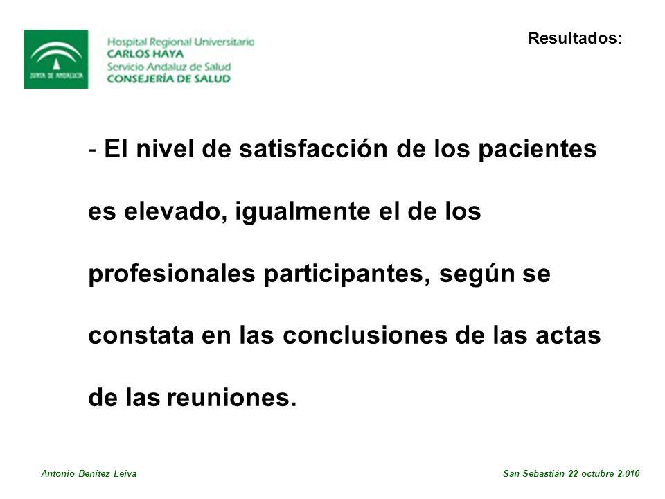 El nivel de satisfacción de los pacientes
