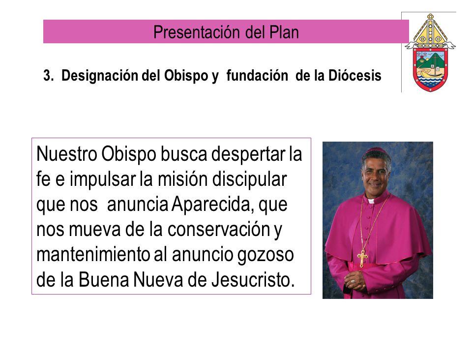 3. Designación del Obispo y fundación de la Diócesis