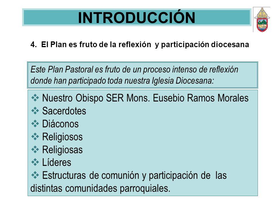 INTRODUCCIÓN Nuestro Obispo SER Mons. Eusebio Ramos Morales Sacerdotes