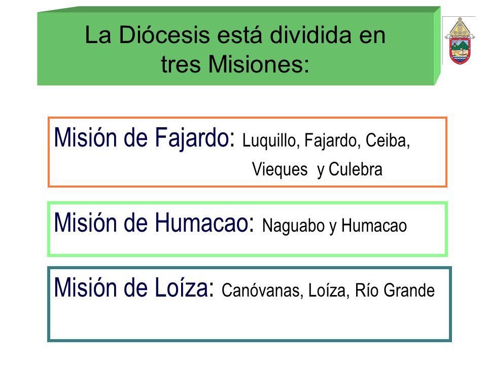 La Diócesis está dividida en tres Misiones: