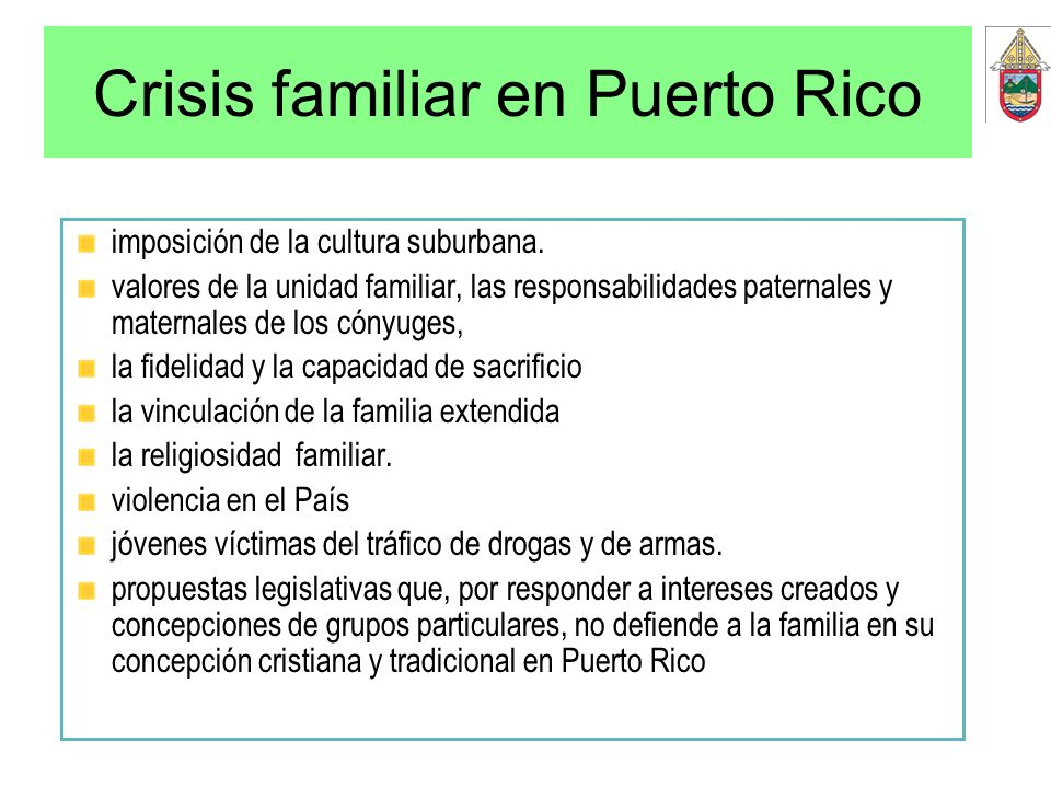 Crisis familiar en Puerto Rico