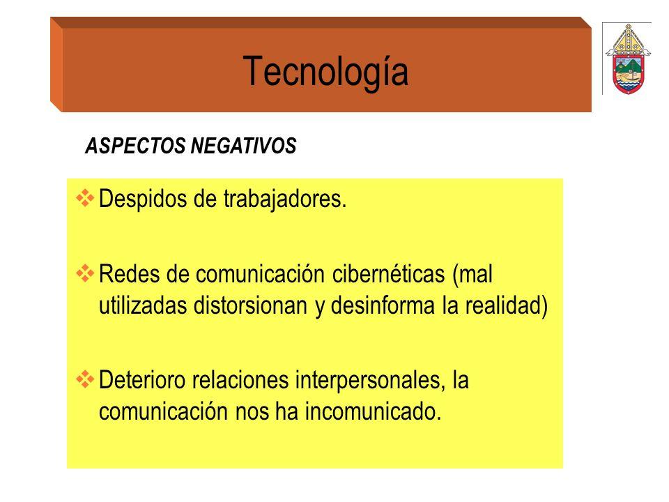 Tecnología Despidos de trabajadores.