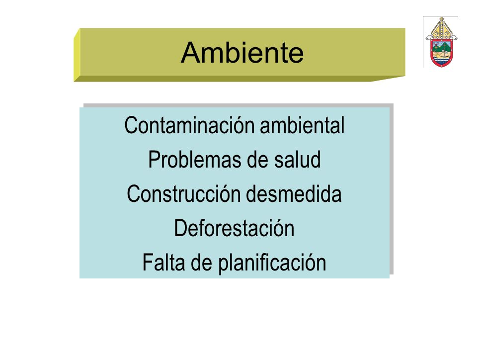 Ambiente Contaminación ambiental Problemas de salud