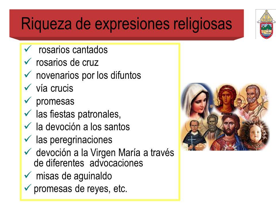 Riqueza de expresiones religiosas