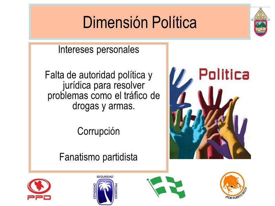Dimensión Política Intereses personales
