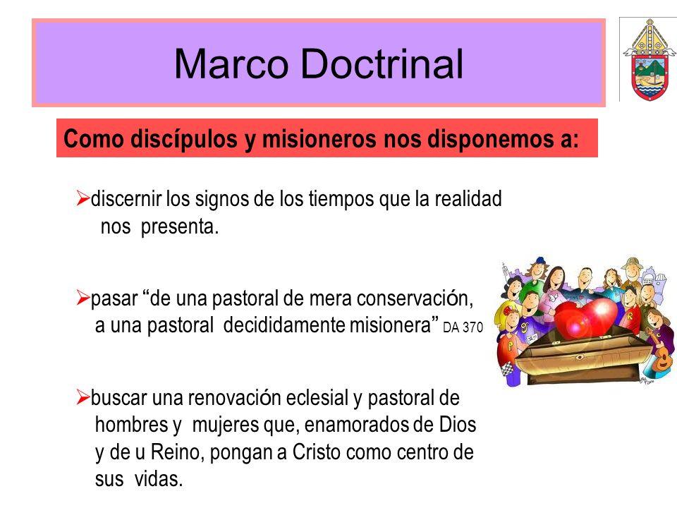 Marco Doctrinal Como discípulos y misioneros nos disponemos a: