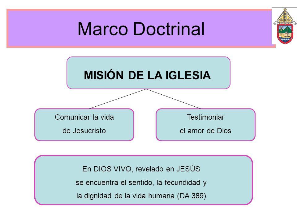 Marco Doctrinal MISIÓN DE LA IGLESIA Comunicar la vida de Jesucristo