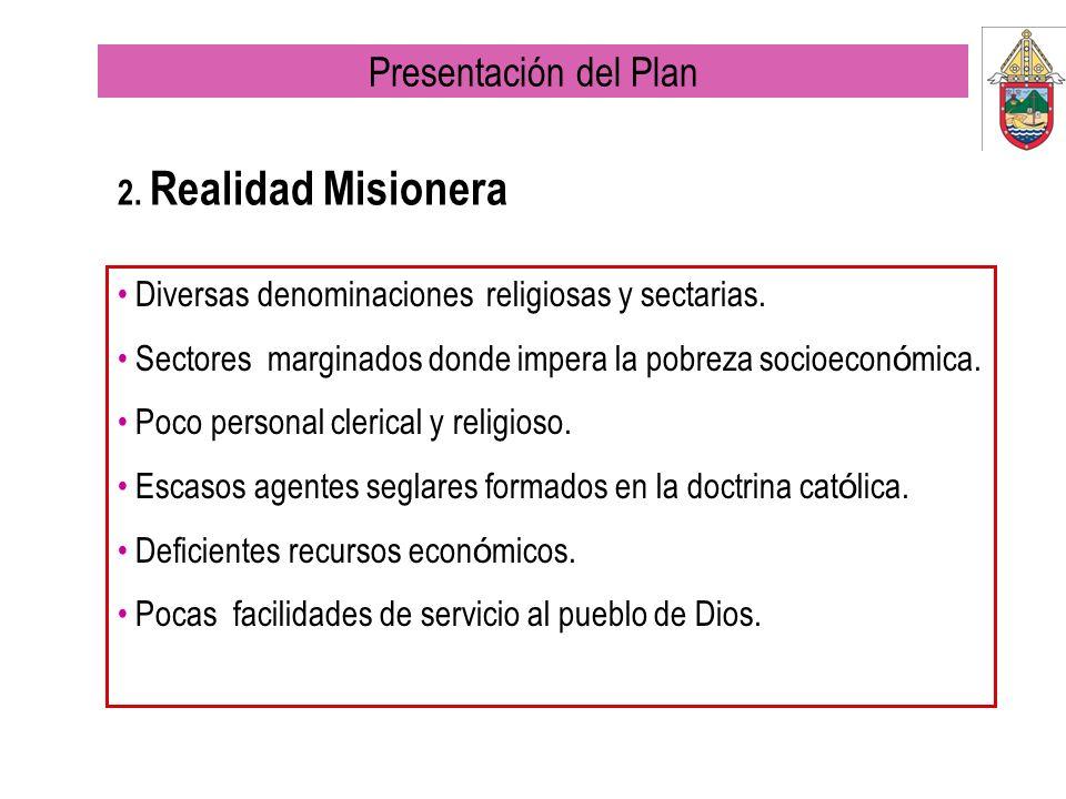 Presentación del Plan 2. Realidad Misionera