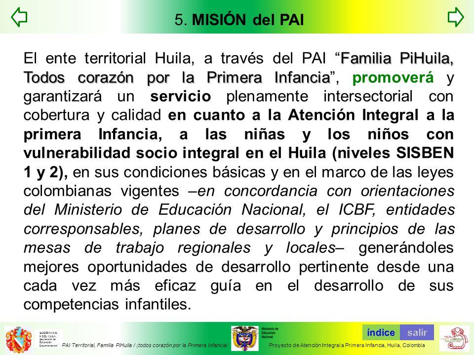 5. MISIÓN del PAI
