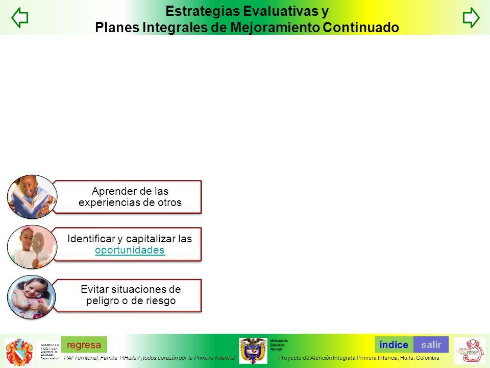 Estrategias Evaluativas y Planes Integrales de Mejoramiento Continuado