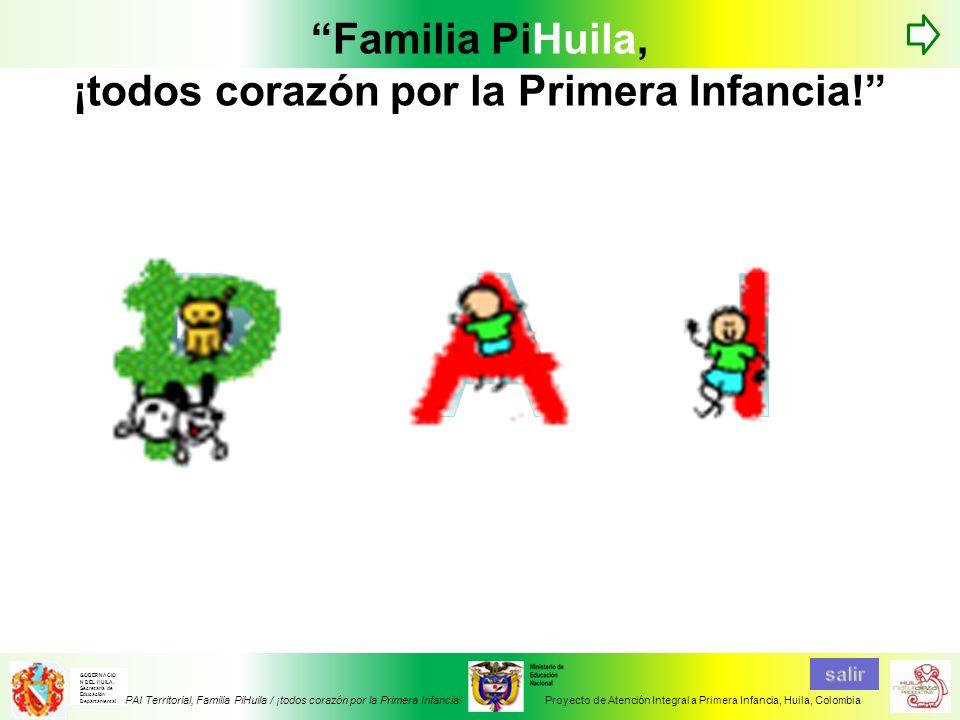 Familia PiHuila, ¡todos corazón por la Primera Infancia!