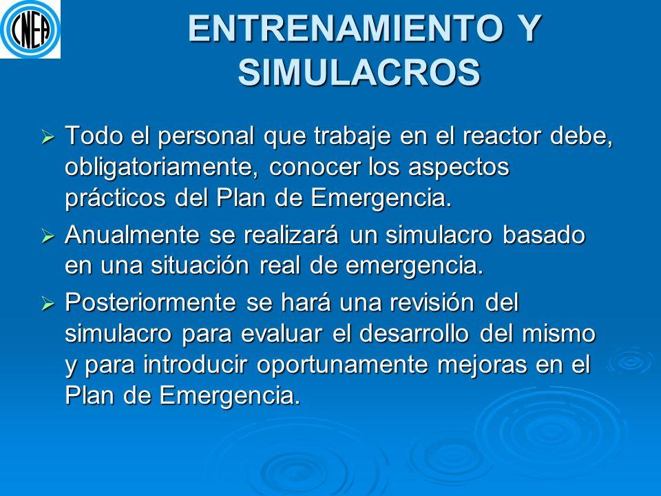 ENTRENAMIENTO Y SIMULACROS