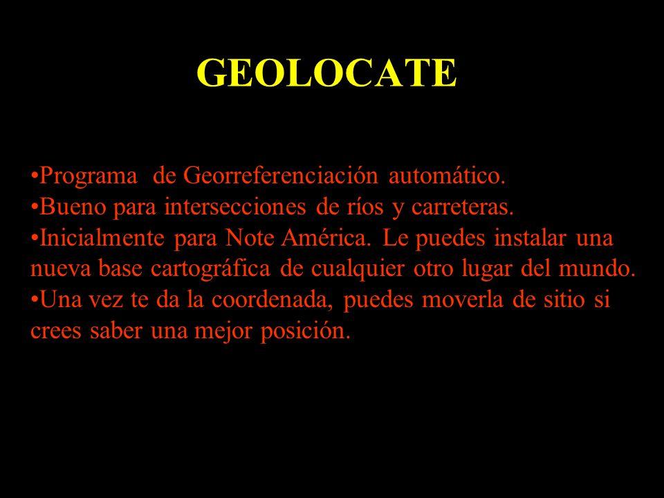GEOLOCATE Programa de Georreferenciación automático.