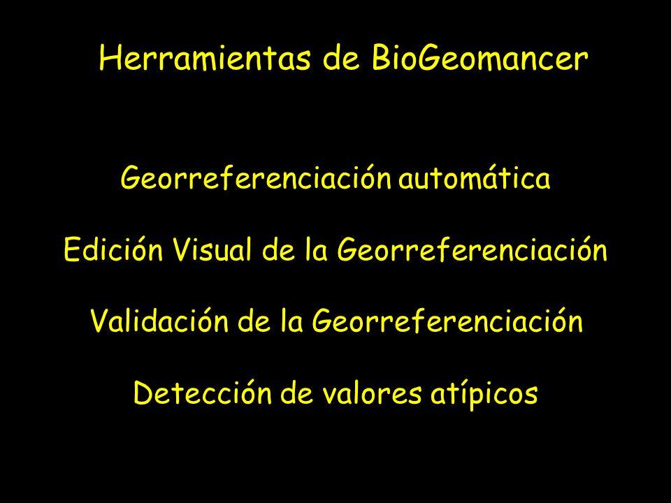 Herramientas de BioGeomancer