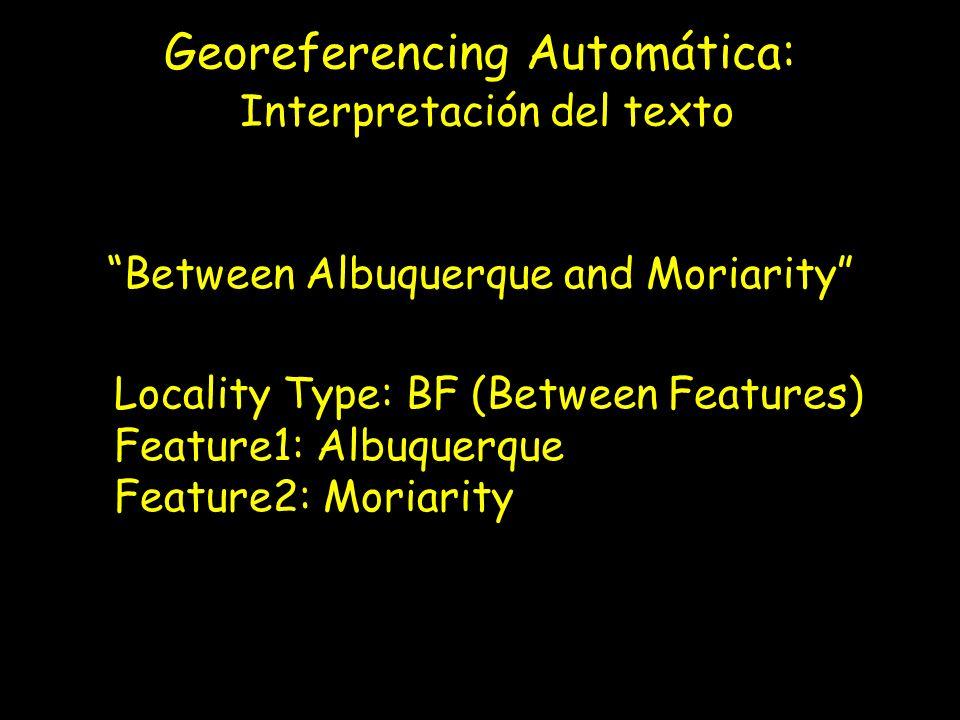 Georeferencing Automática: Interpretación del texto