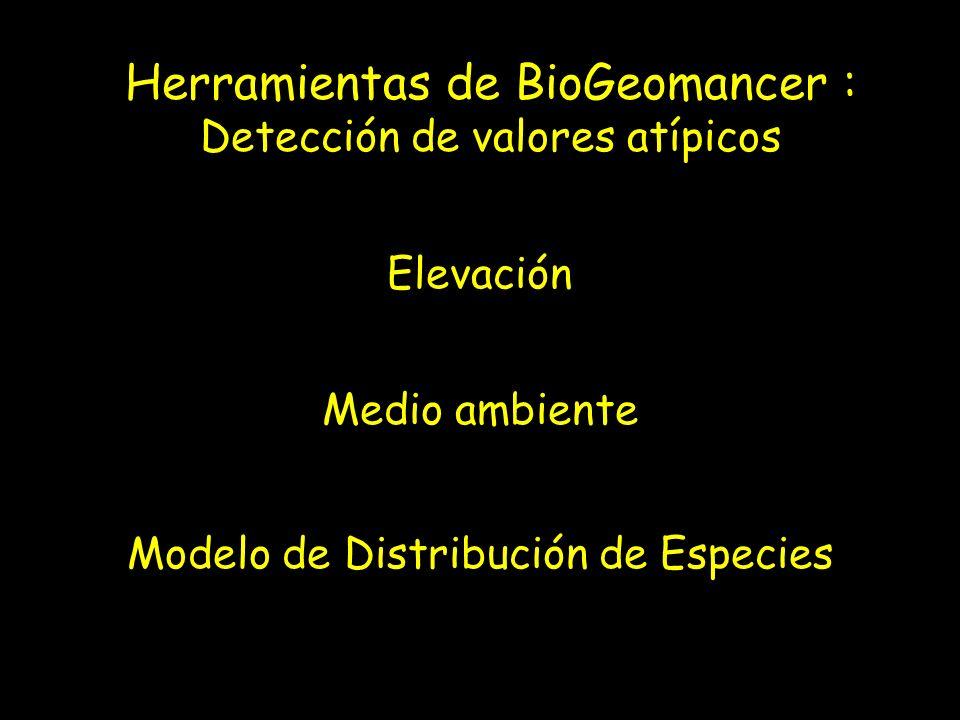 Herramientas de BioGeomancer :