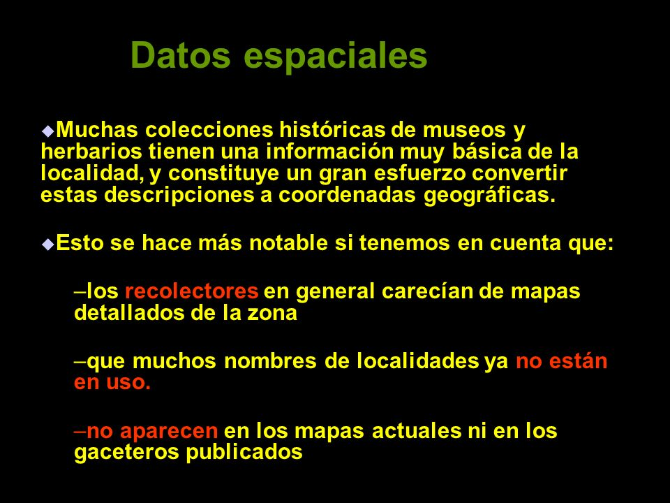 Datos espaciales