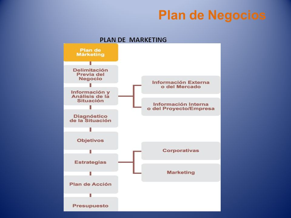 Plan de Negocios PLAN DE MARKETING