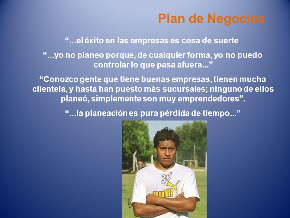 Plan de Negocios ...el éxito en las empresas es cosa de suerte