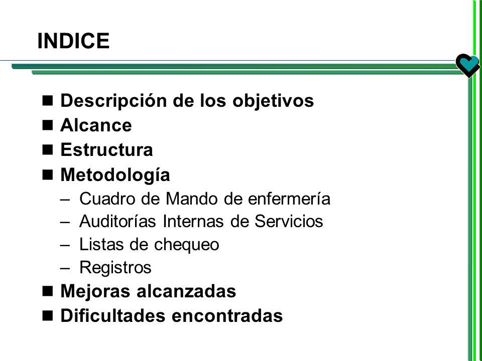 INDICE Descripción de los objetivos Alcance Estructura Metodología