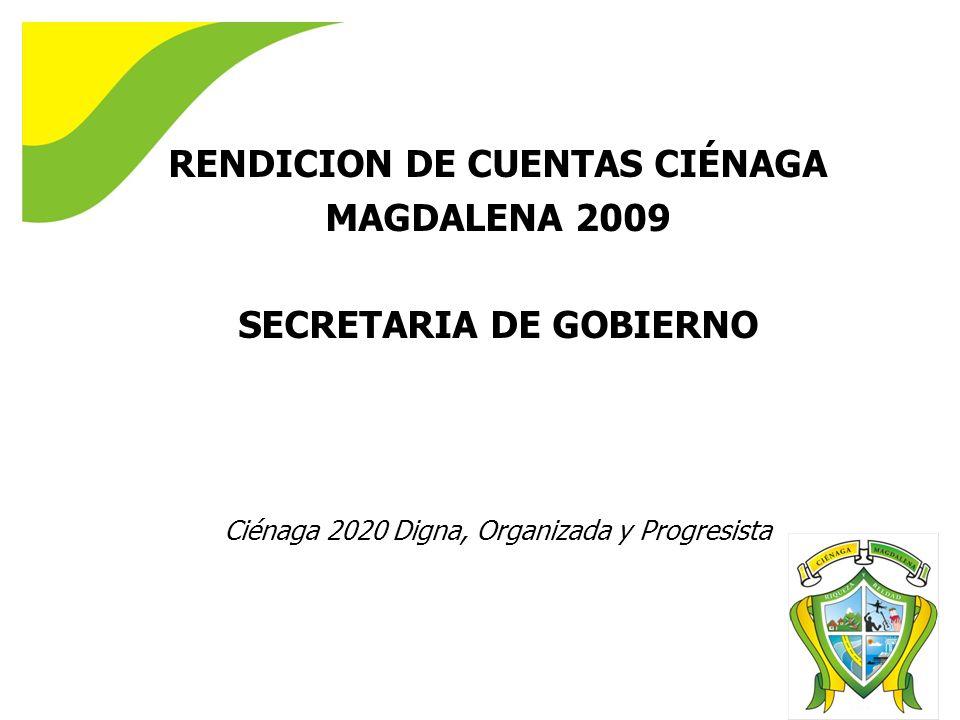 RENDICION DE CUENTAS CIÉNAGA SECRETARIA DE GOBIERNO