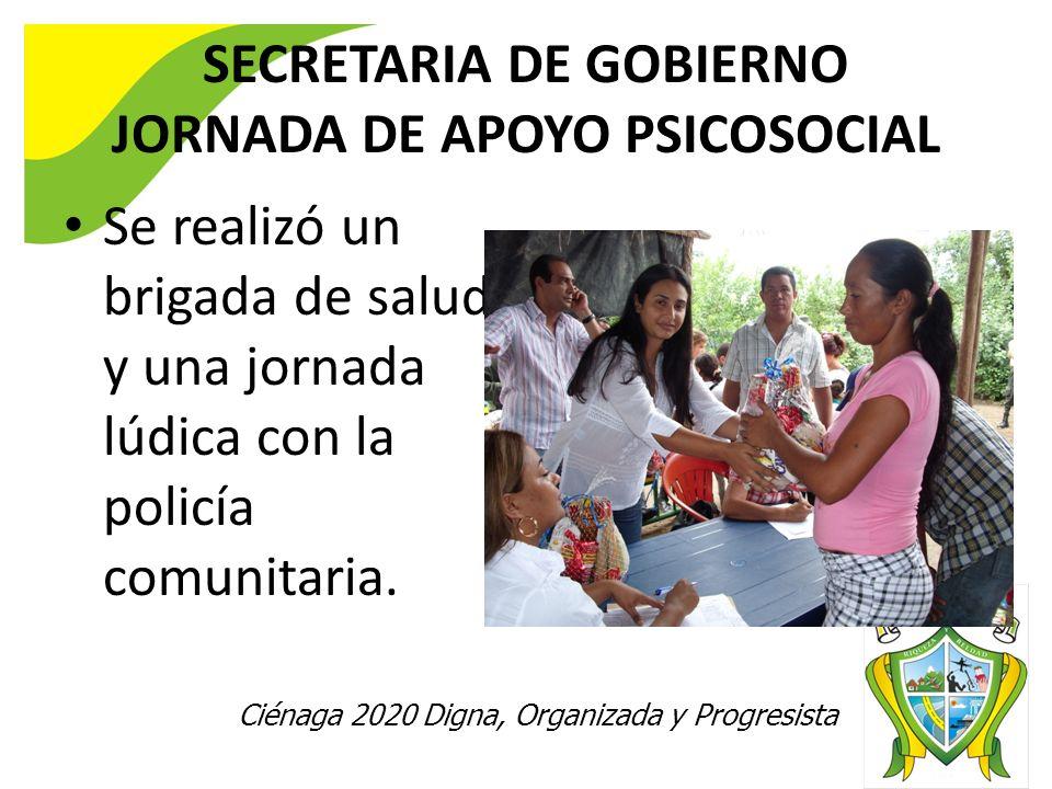 SECRETARIA DE GOBIERNO JORNADA DE APOYO PSICOSOCIAL