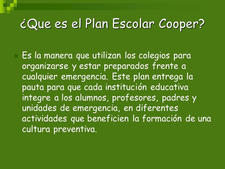 ¿Que es el Plan Escolar Cooper